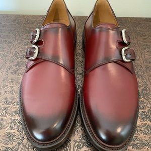 BRAND NEW Gucci Maroon Double Monk Strap Shoes